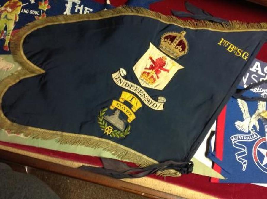 1St Battalion Scots Guards George V, Pipers Banner.