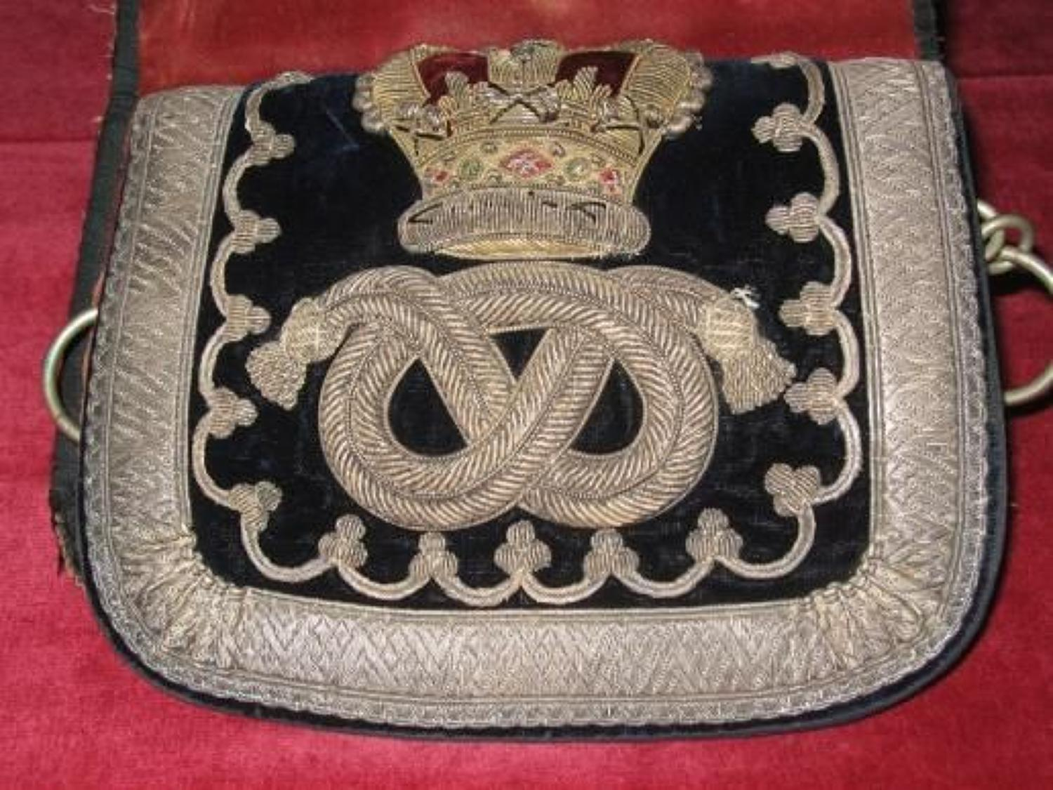 Staffordshire Yeomanry Victorian Crowned, Officers Full Dress Pouch.