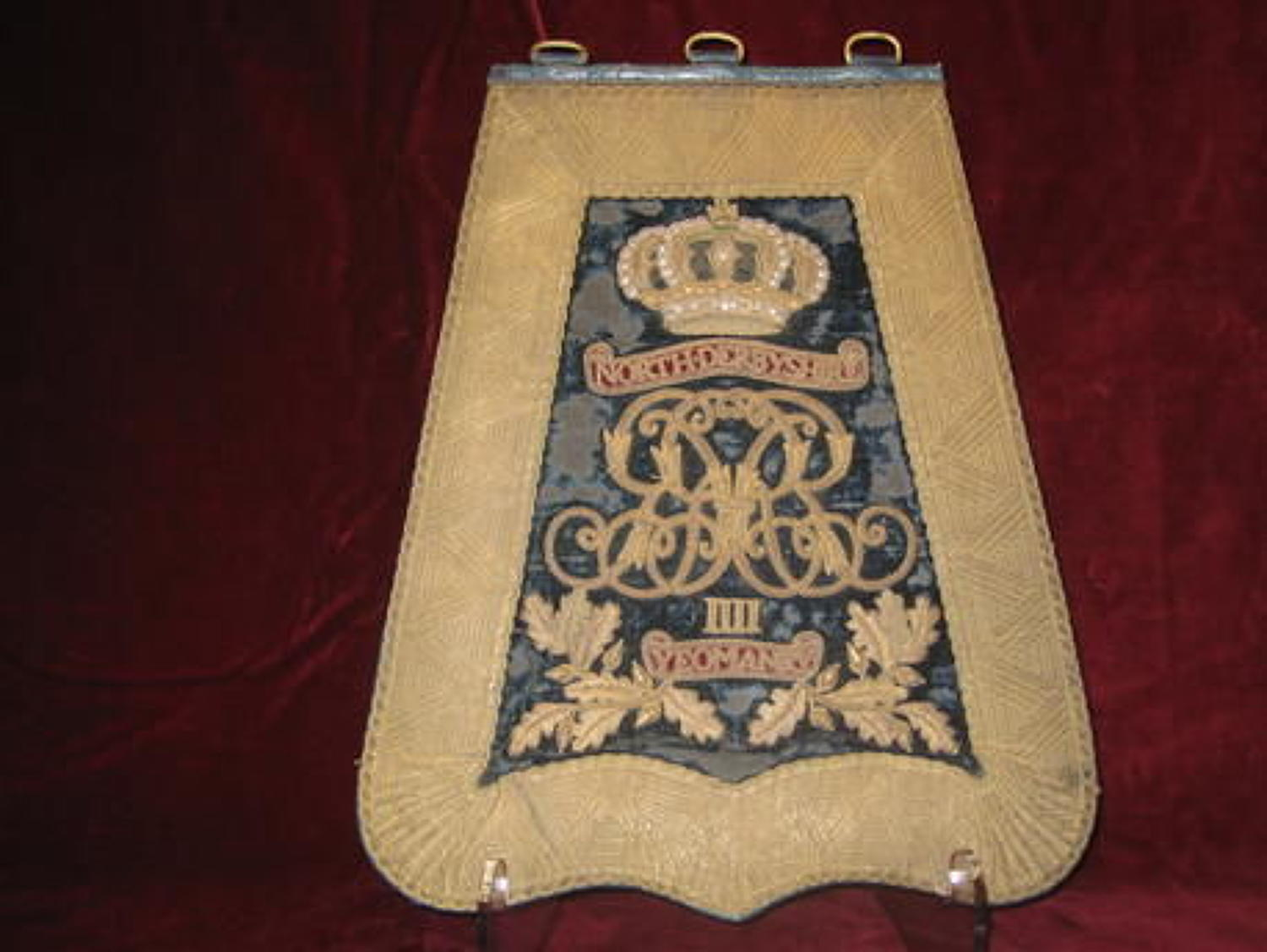 North Derbyshire Yeomanry Officers Sabretache