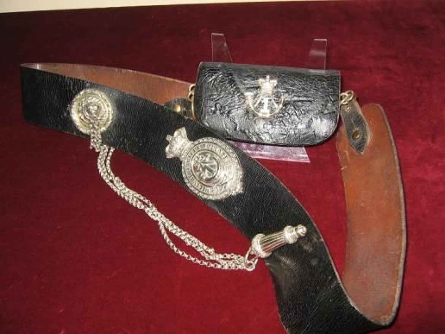 1st Wiltshire Rifle Volunteers Pouch and Belt