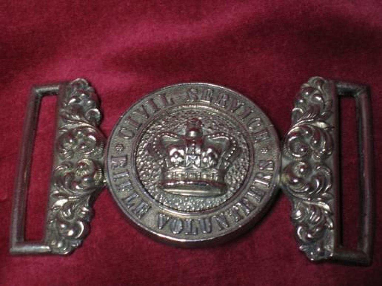 Civil Service Rifle Volunteer's Officers Waist Belt Clasp.