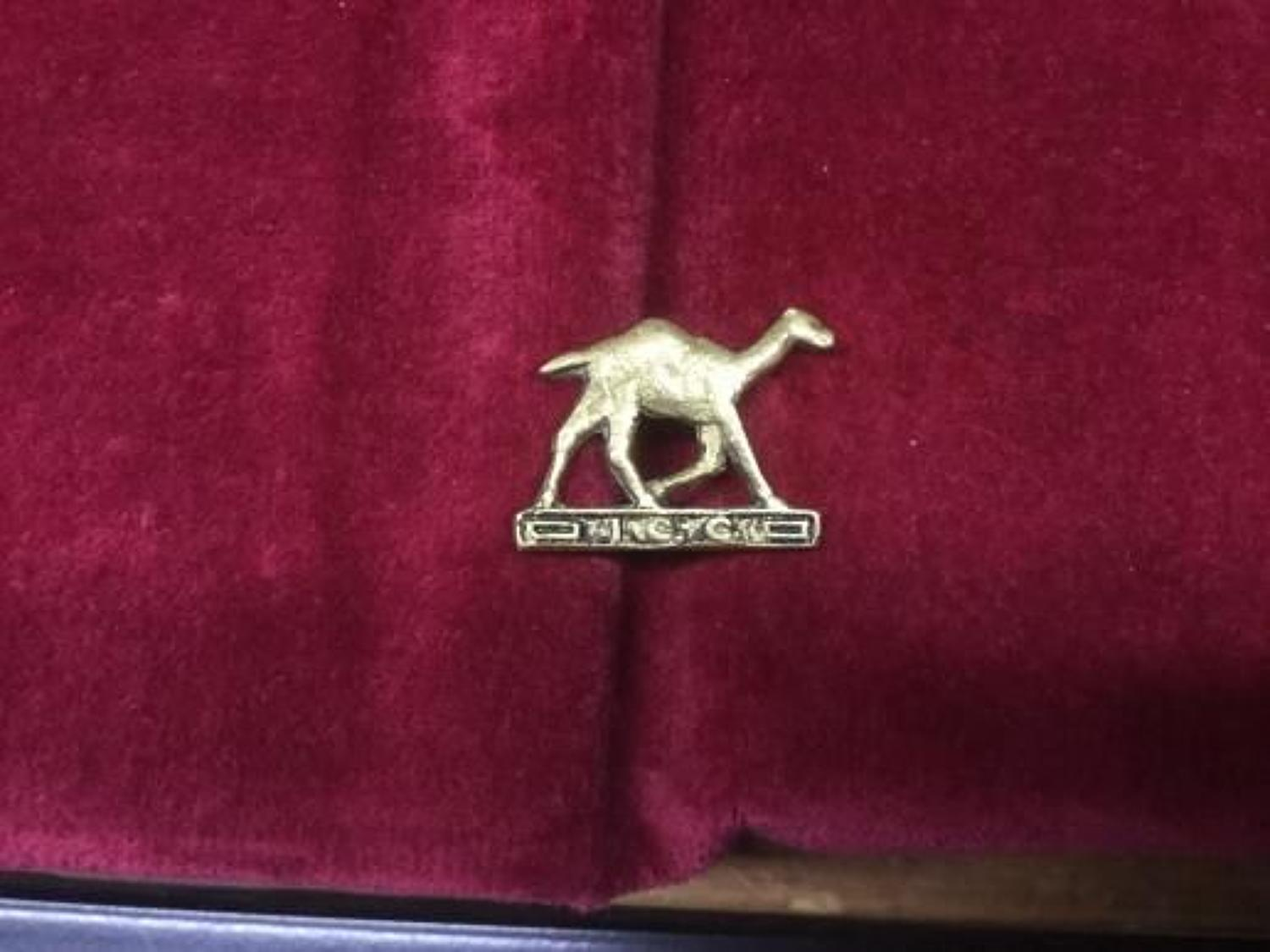 Imperial Camel Corps Collar Badge