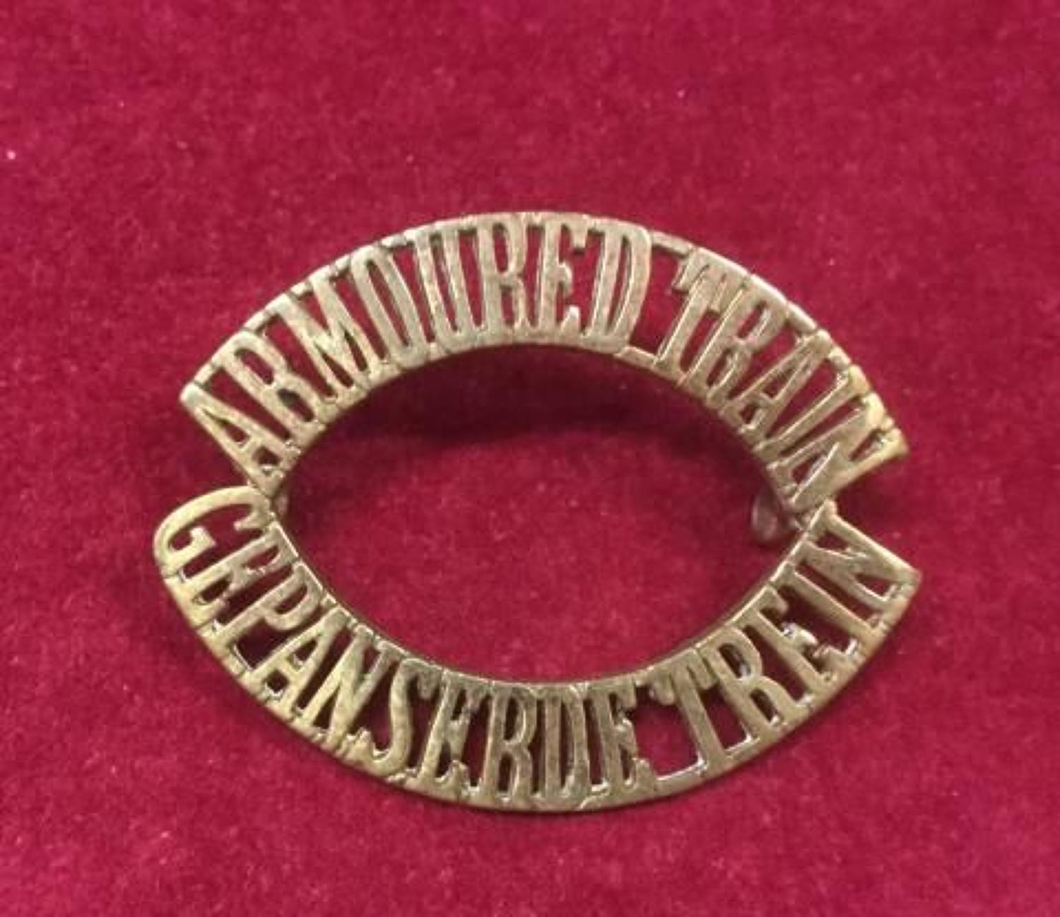 Armoured Train -  Gepansebde Trein Shoulder Title/Pagri Badge