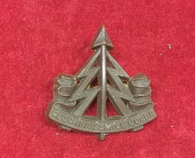 Reconnaissance Corps Plastic Badge