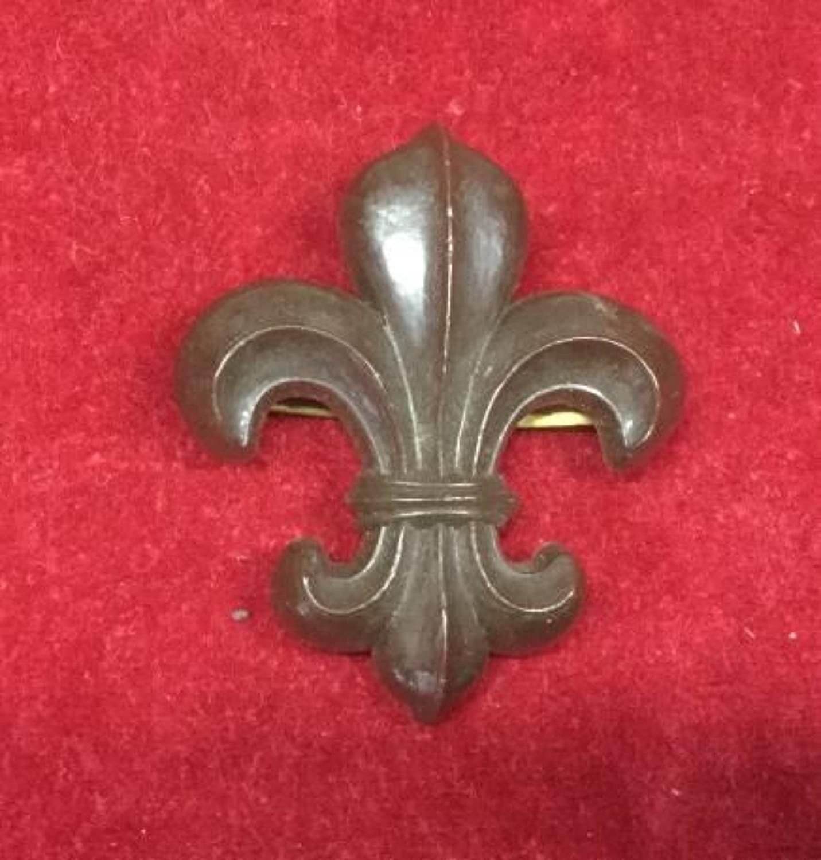Manchester Regiment Plastic Cap Badge