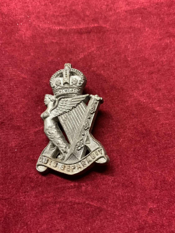 Royal Ulster Rifles Plastic Cap Badge