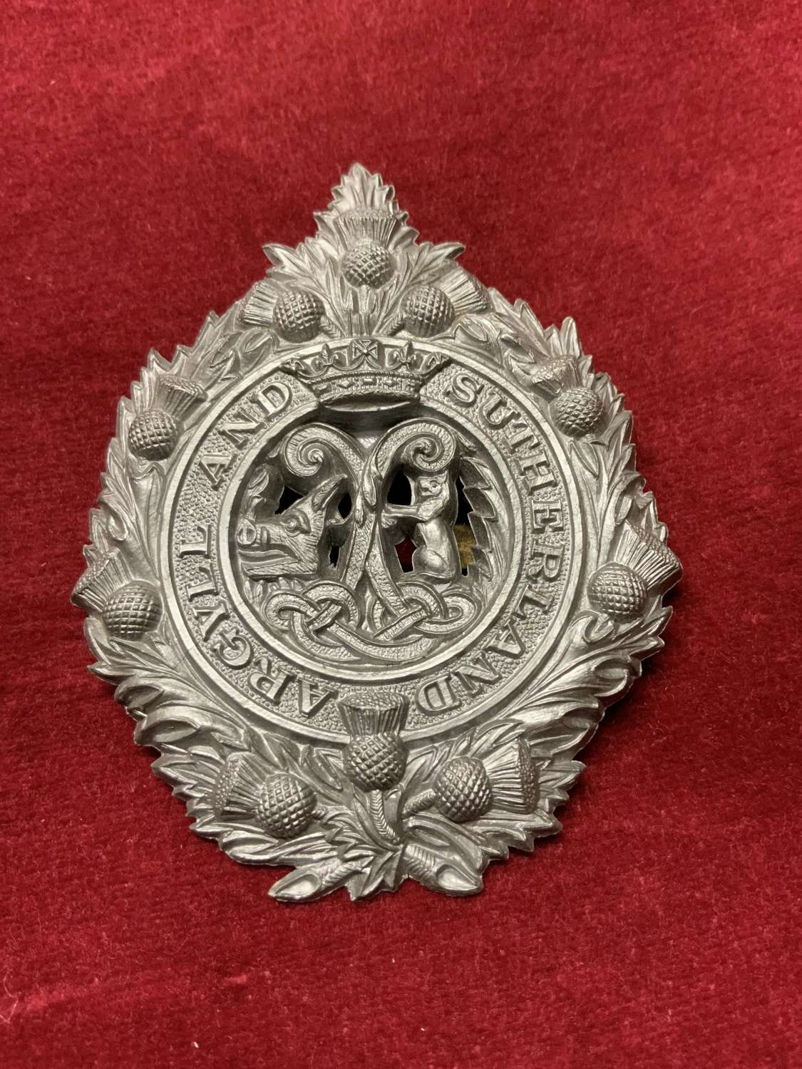Argyll and Sutherland Highlanders Plastic Cap Badge