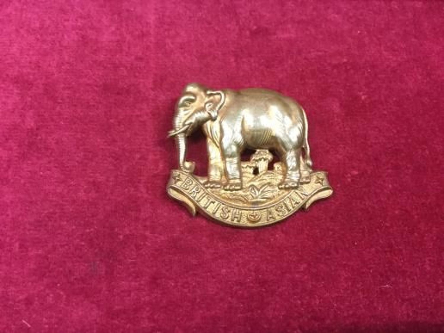Kings Colonials British Asian Sqn Cap Badge