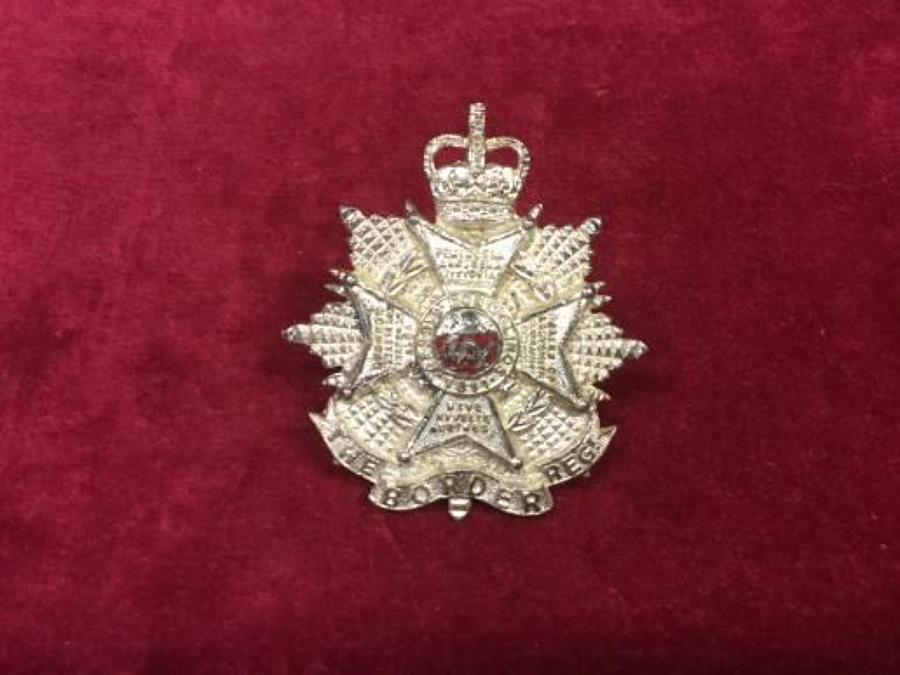 ERII Officers Border Regiment Cap Badge