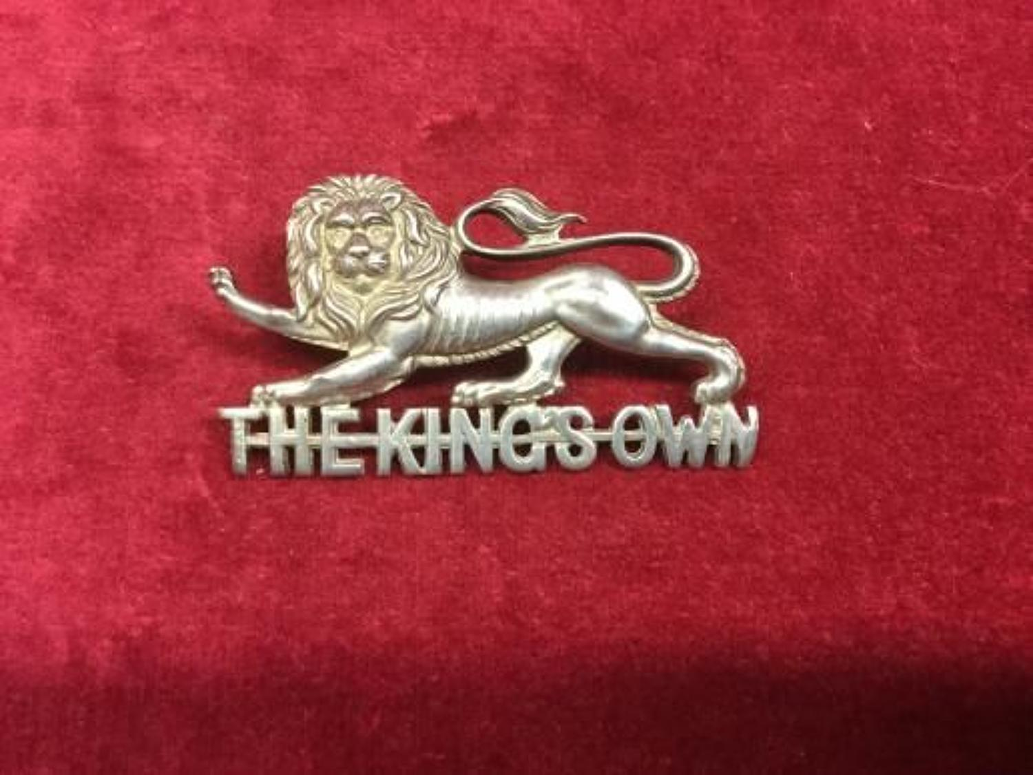 Kings Own Royal Lancaster Regiment Hallmarked Officers Cap Badge