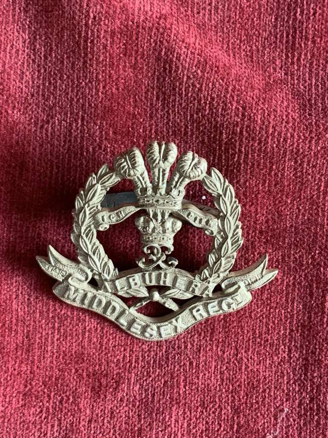 Middlesex Regiment Officers Hallmarked Cap Badge