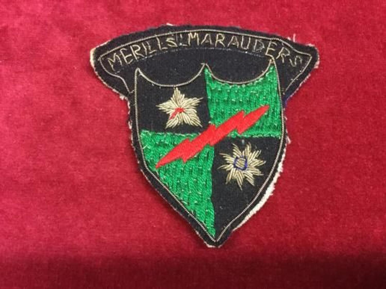 Mars Task Force 'Merrill's Marauders' arm patch