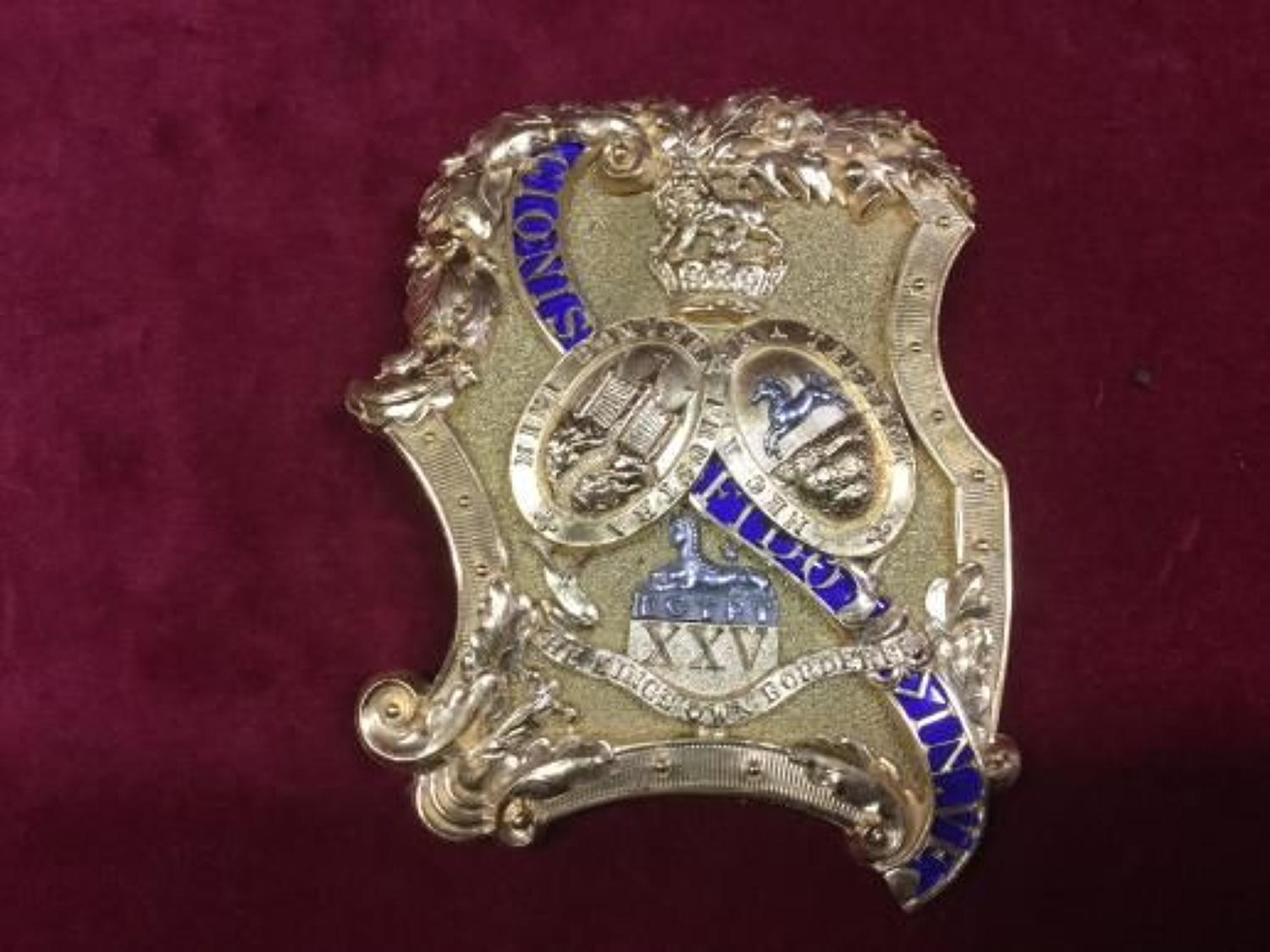 25th Foot Regiment 'Kings Own Borderers' Shoulder Belt Plate