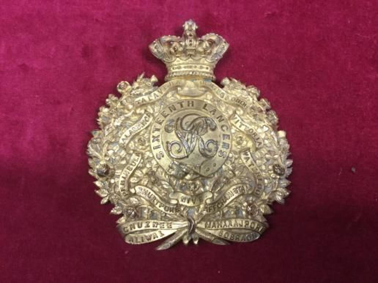 16th Lancers Undress Sabretache Badge
