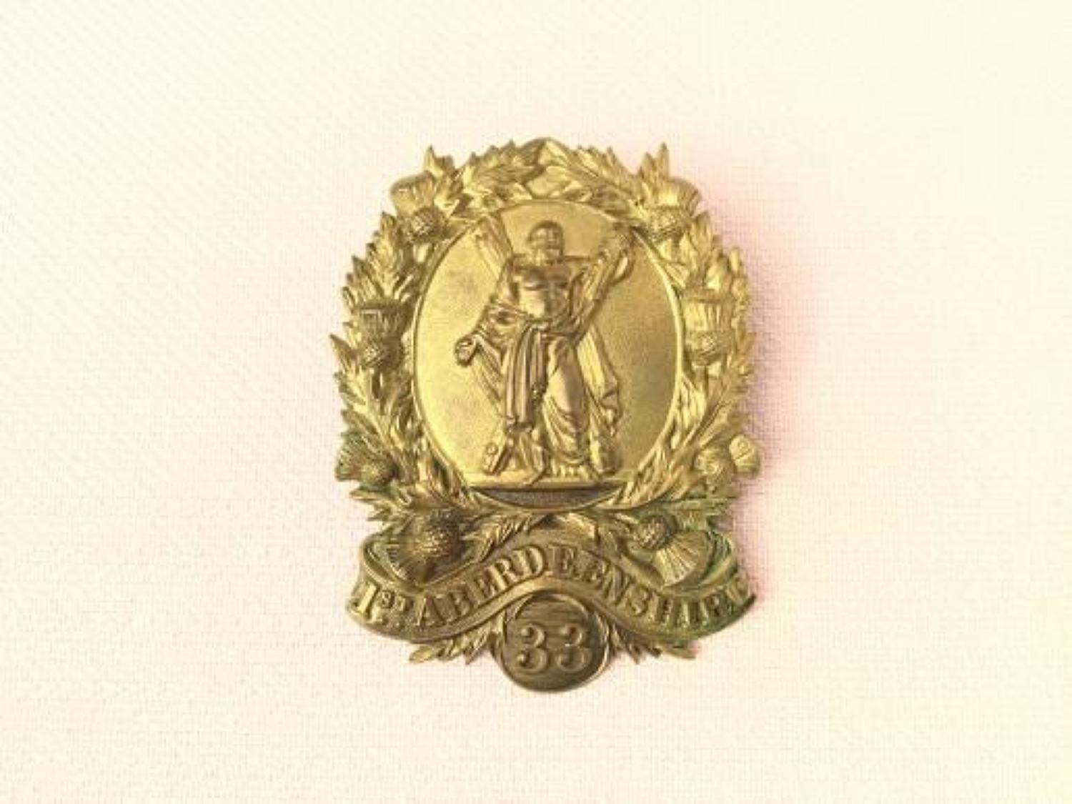 1st Aberdeenshire Rifle Volunteers ORs Cap Insignia.