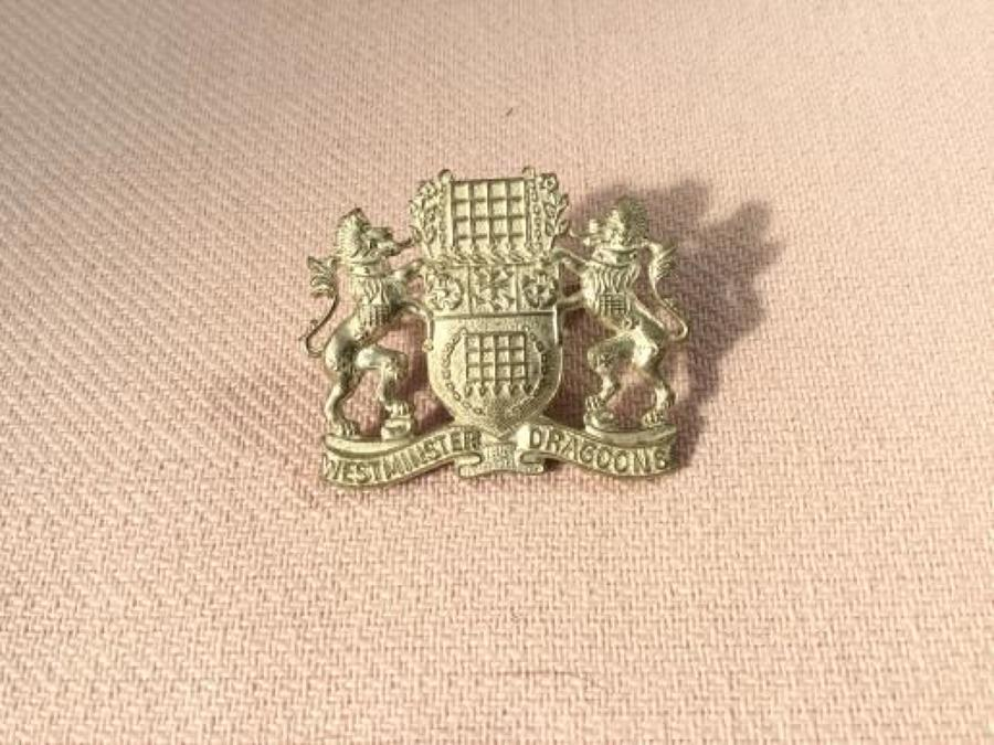 Westminster (Yeomanry) Dragoons Officers Cap Insignia.