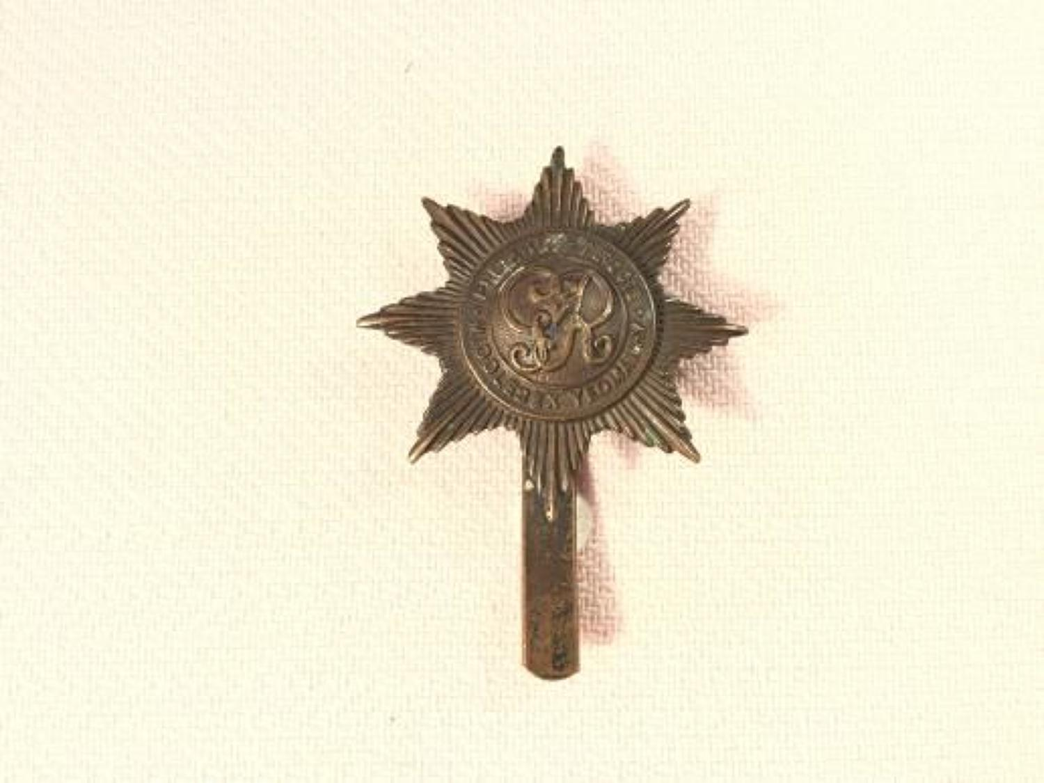 Duke of Cambridge's Middlesex Yeomanry ORs Cap Insignia.