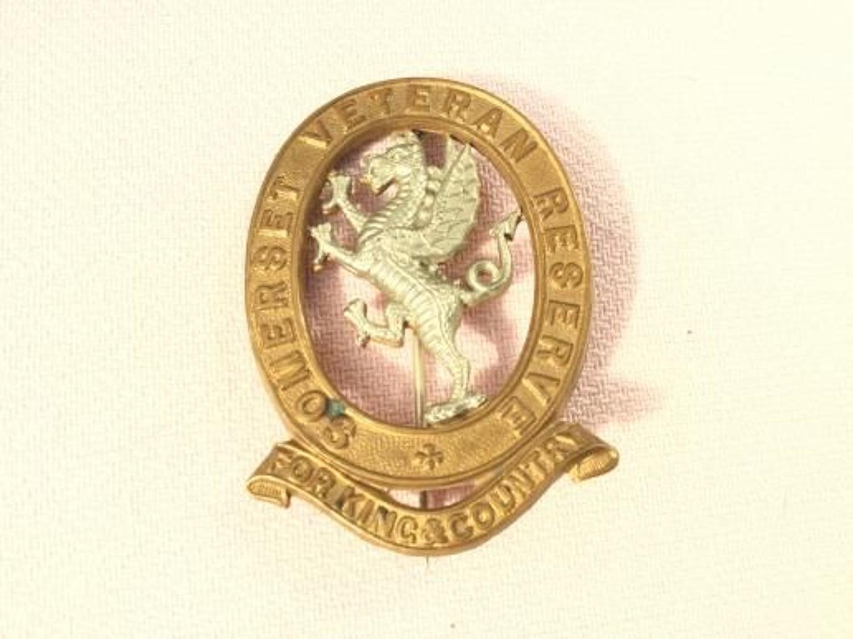 Somerset Veterans Reserve Badge Insignia.