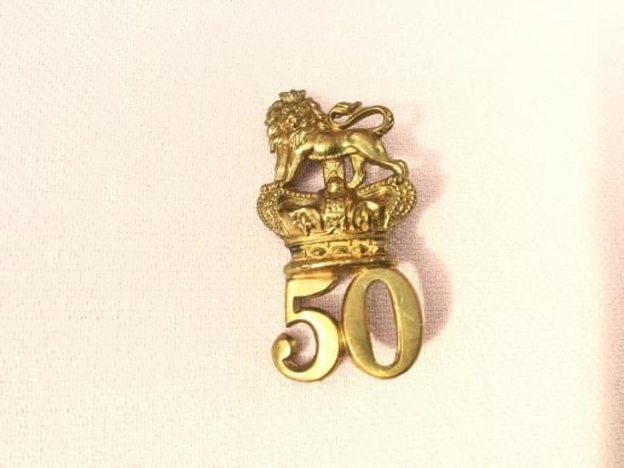 50th Regiment of Foot (Queens Own) Glengarry Badge.
