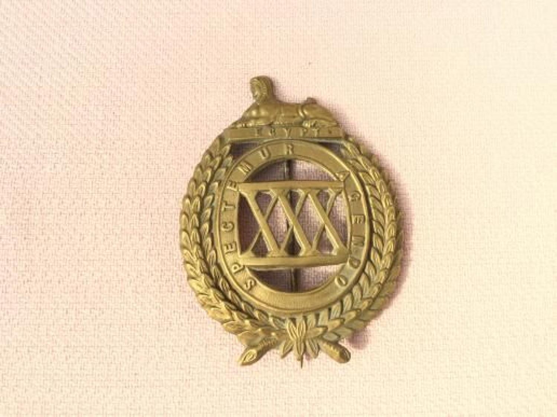30th Regiment of Foot (Cambridgeshire) Glengarry Badge.