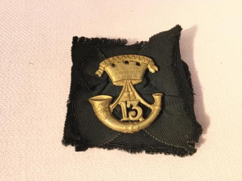 13th Light Infantry Glengarry Badge