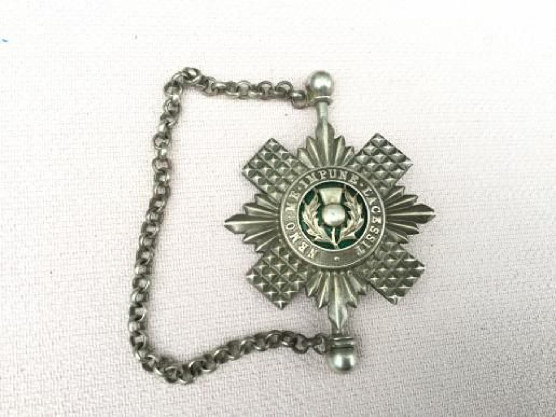 Royal Scots Hallmarked Kilt Pin Insignia.