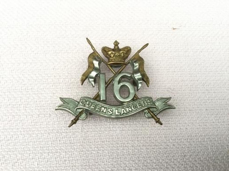 16th Lancers Victorian Cap Insignia.