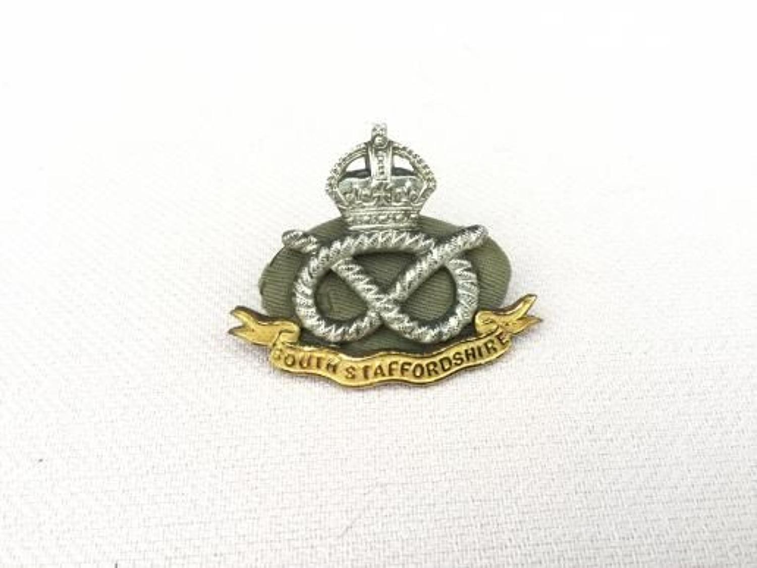 South Staffordshire Regiment Officers Cap Insignia