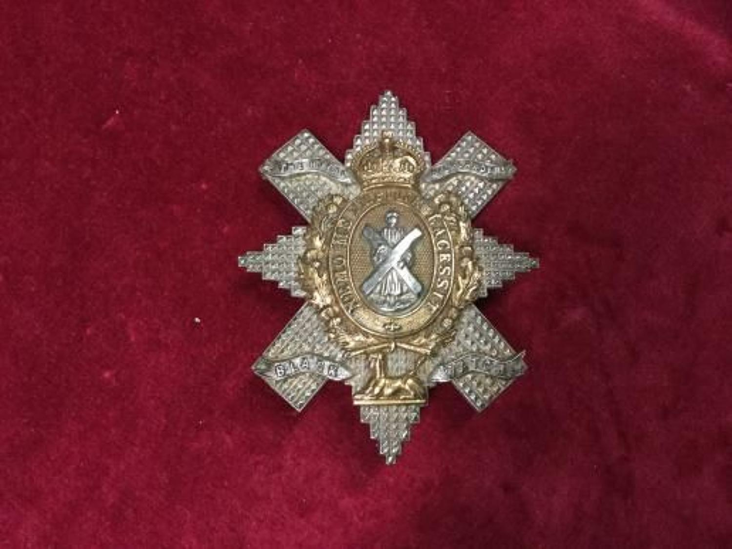 WO's/SNCO's The Black Watch (Royal Highlanders) Glengarry Badge