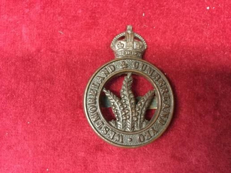 Westmoreland & Cumberland Yeomanry Officers OSD insignia