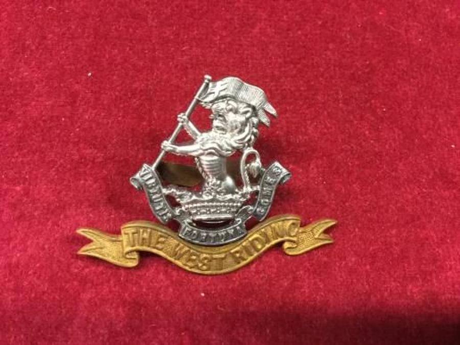 West Riding Officers Forage Cap Badge