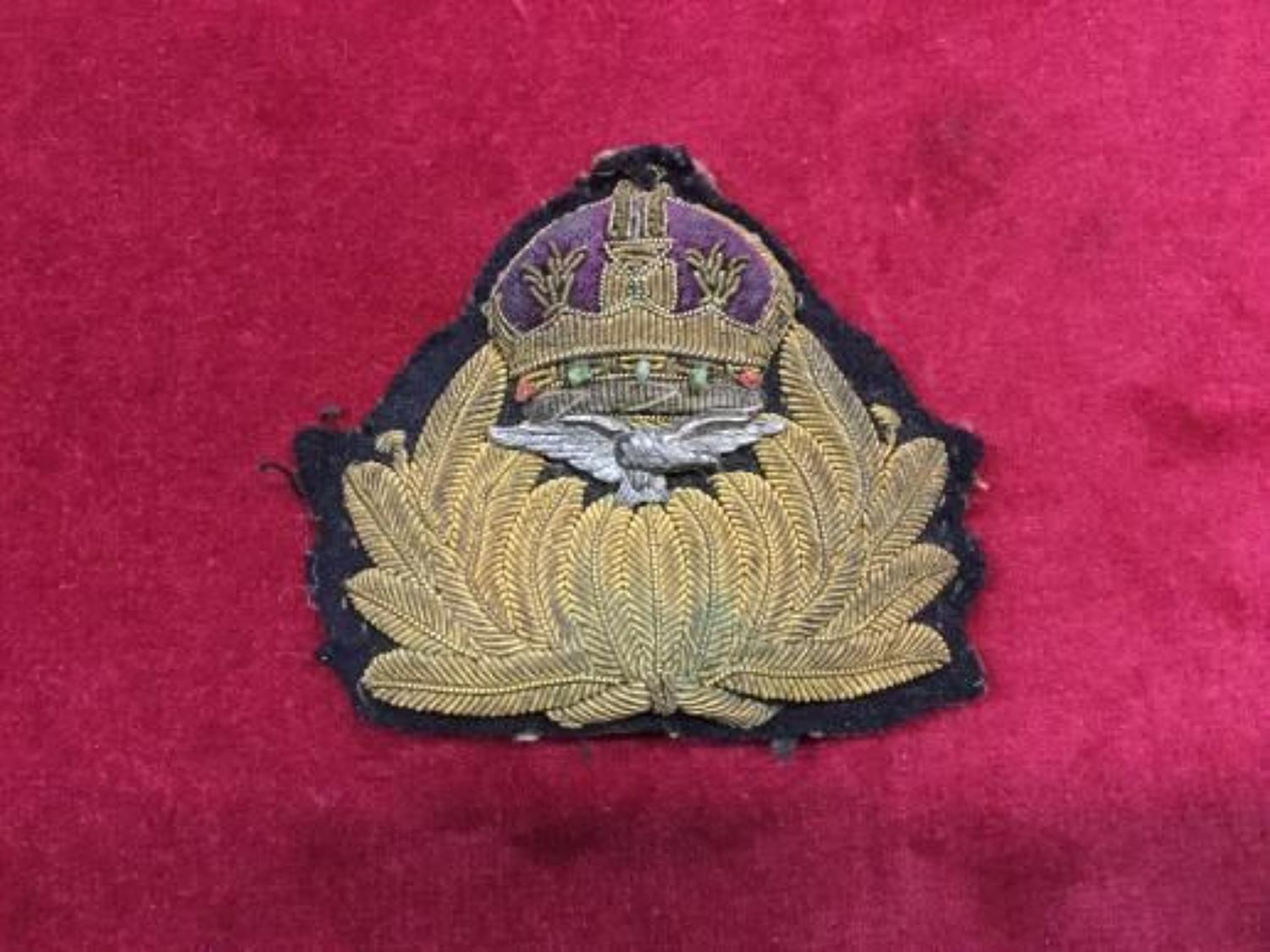 Royal Naval Air Service Cap Badge