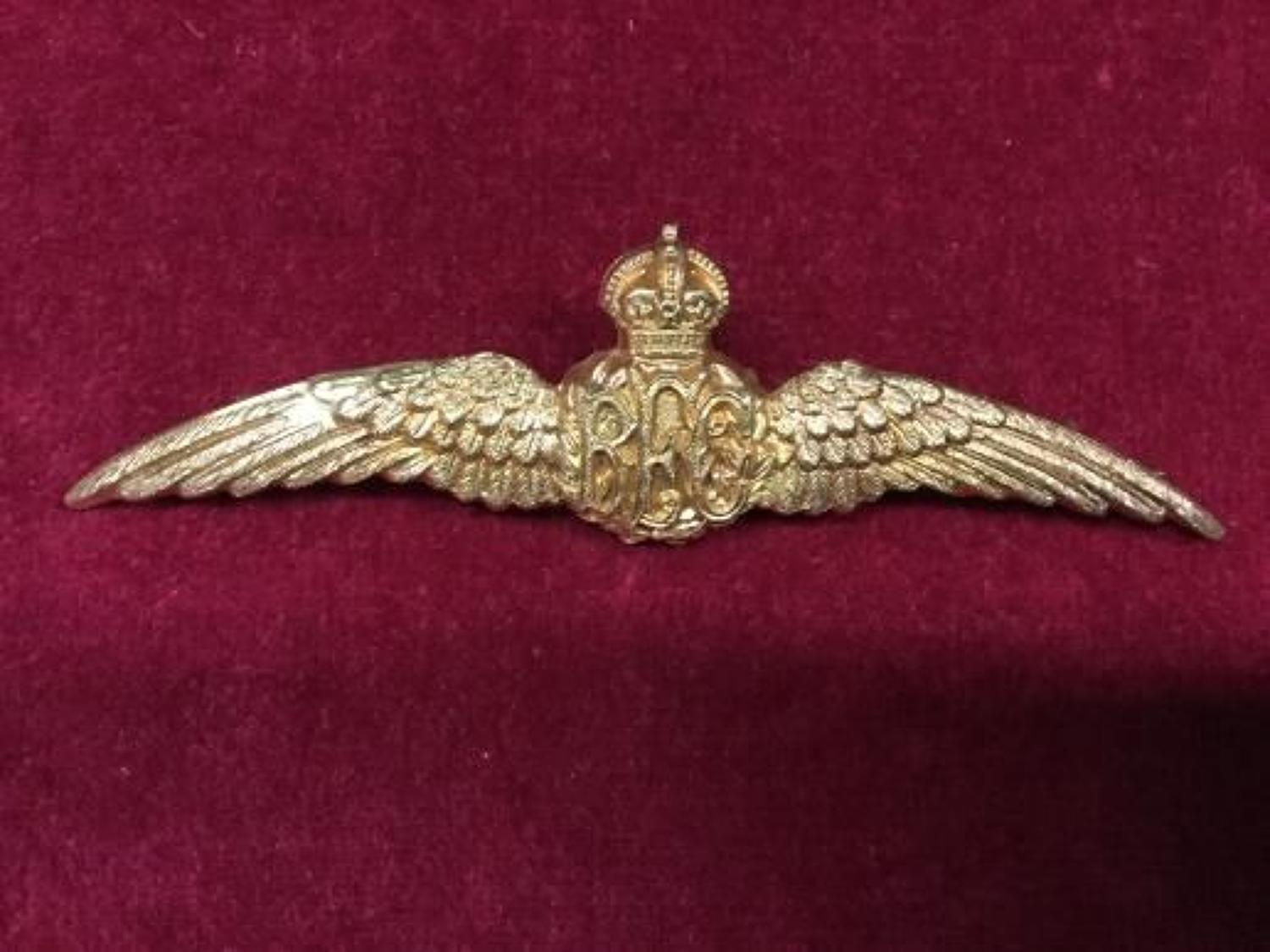 Royal Flying Corps Early Breast Wings