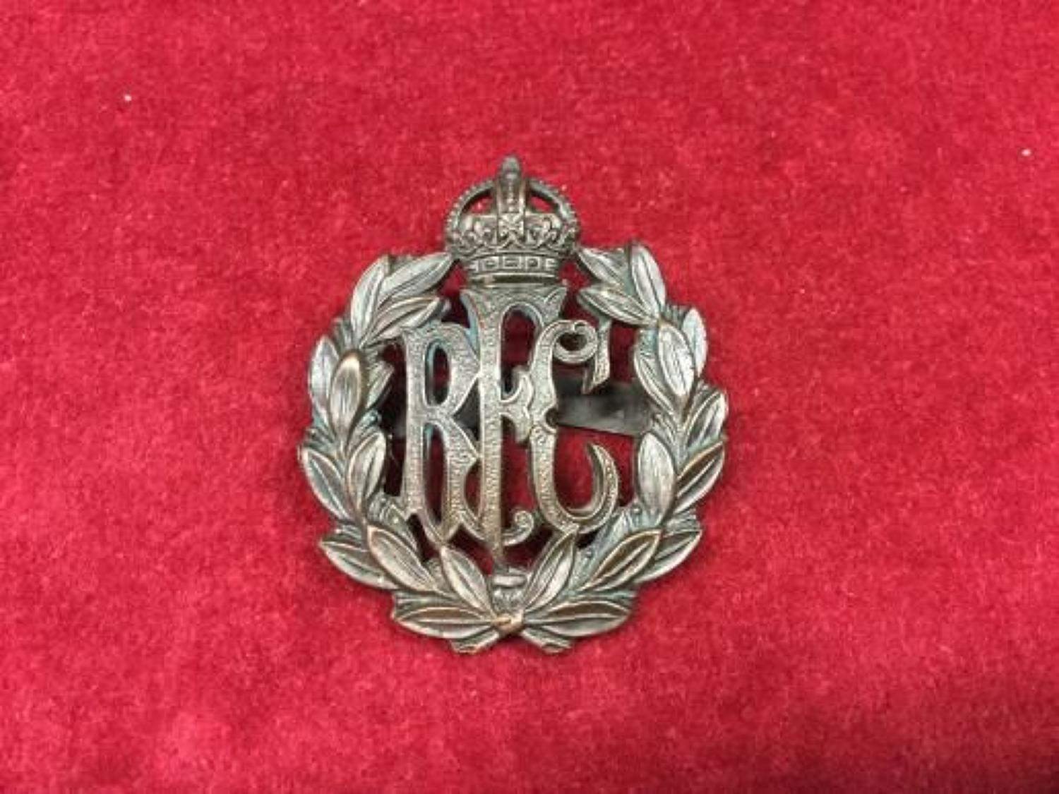 Royal Flying Corps Officers bronzed Cap Badge