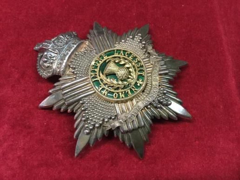 Edwardian Royal Scots Volunteer Battalion Officers Helmet Plate
