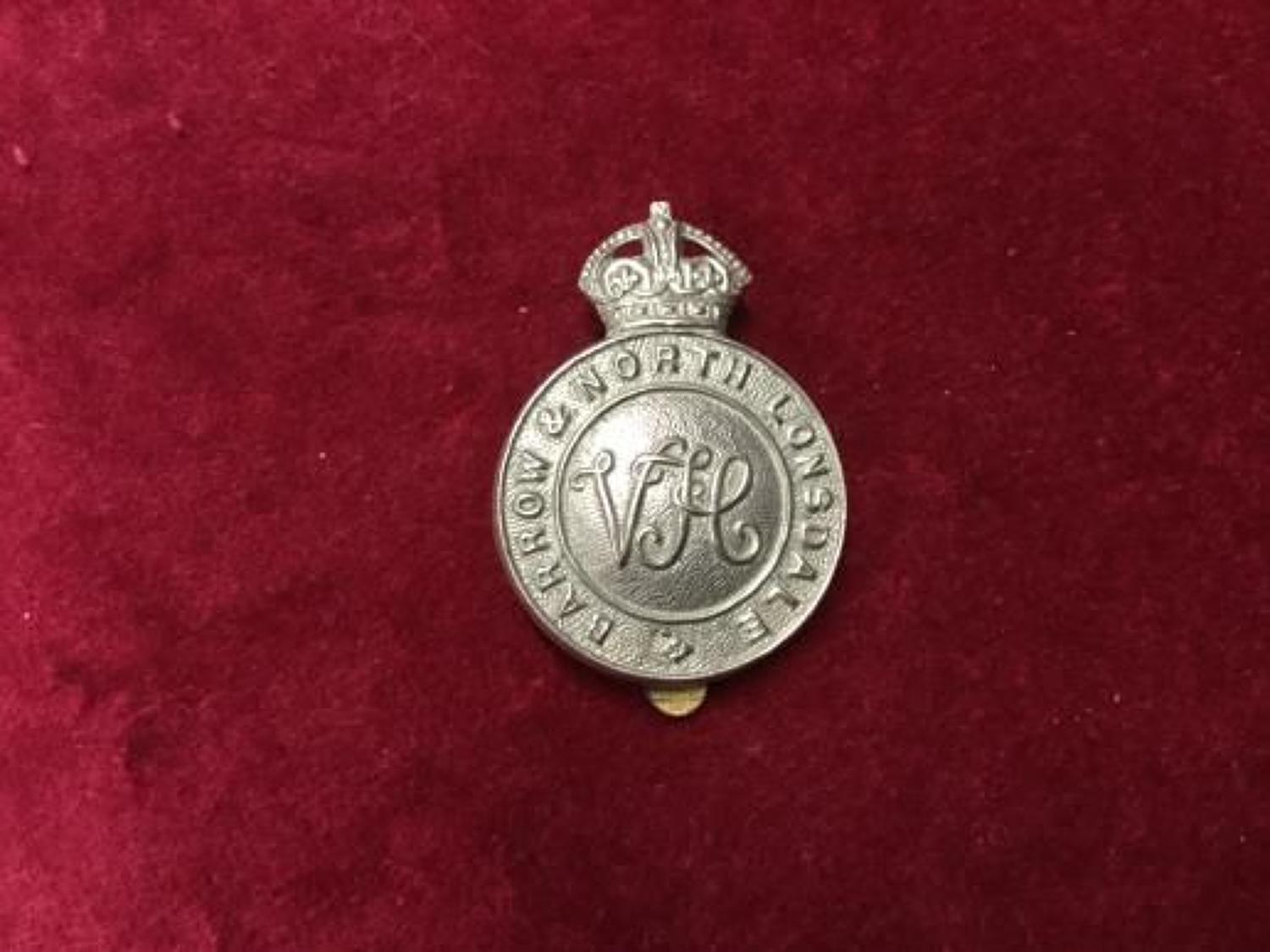 Barrow and North Lonsdale Volunteer Training Corps Cap Insignia