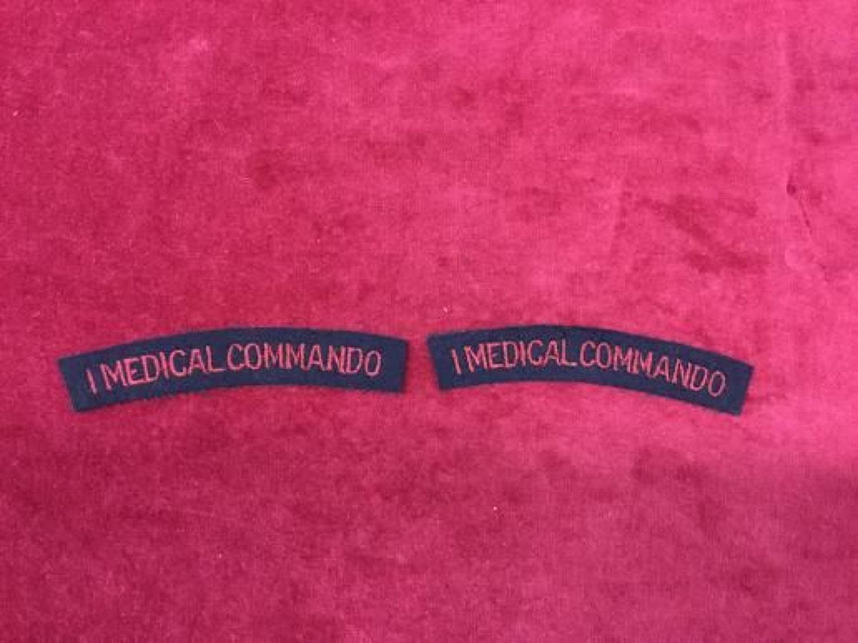 No1 Medical Commando Shoulder Titles