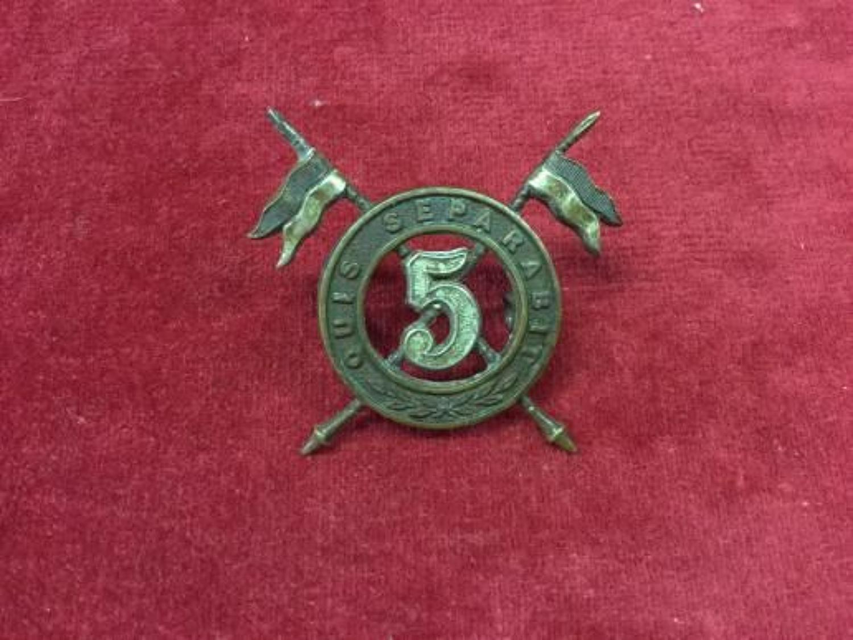 5th Irish Lancers Cap Insignia