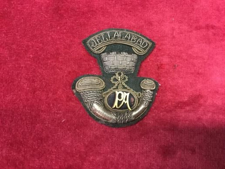 Victorian Officers Somerset Light Infantry Bullion Forage Cap Badge