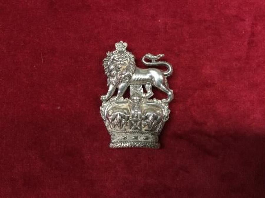 KIngs Dragoons Guards Hallmarked Arm Badge