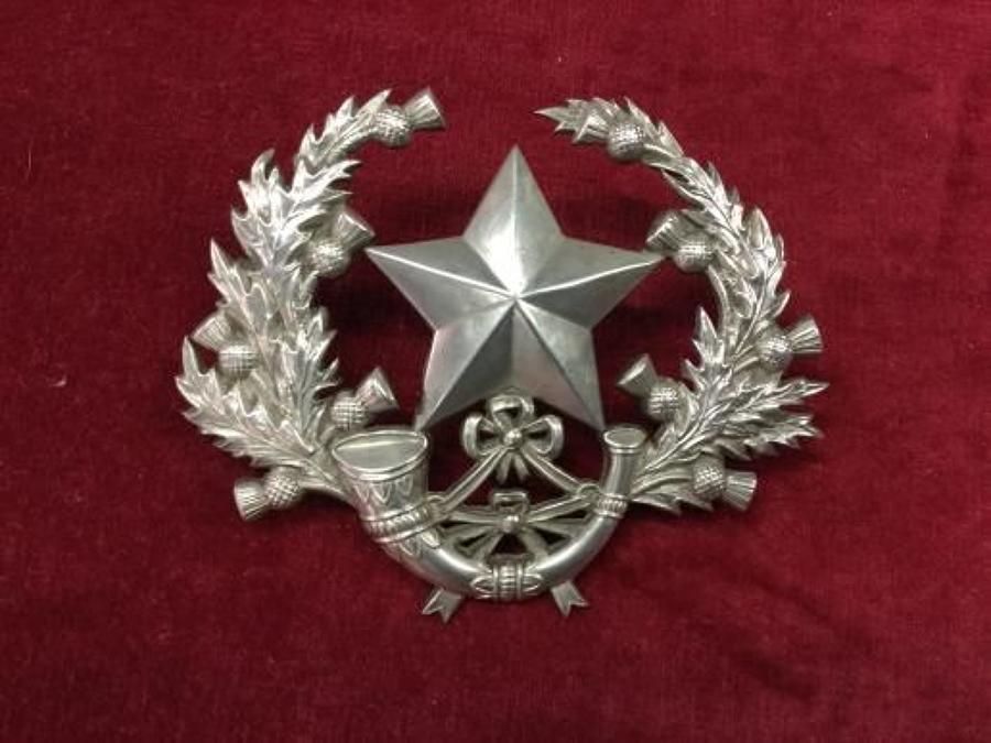 Hallmarked Cameronians Badge Insignia