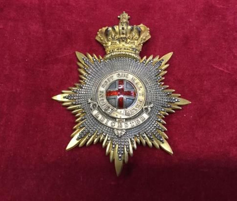 Leicestershire Militia Officers Helmet Plate