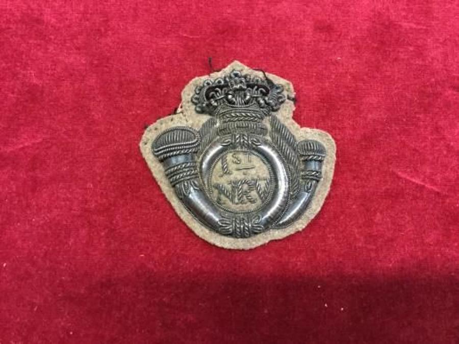 1st Northamptonshire Rifle Volunteers Officers silver embroidered fora