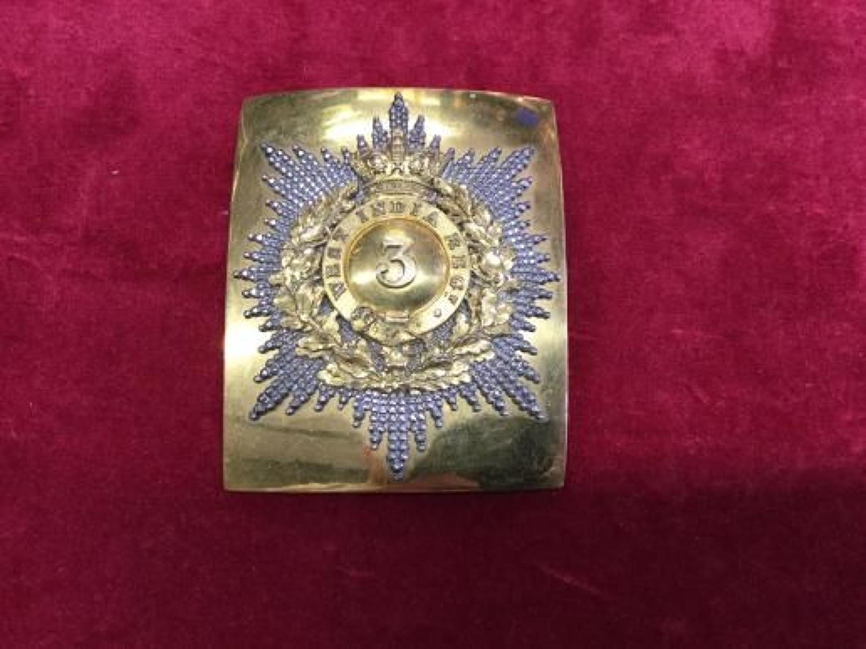 3rd West India Regiment pre 1855 Officers Shoulder Belt Plate