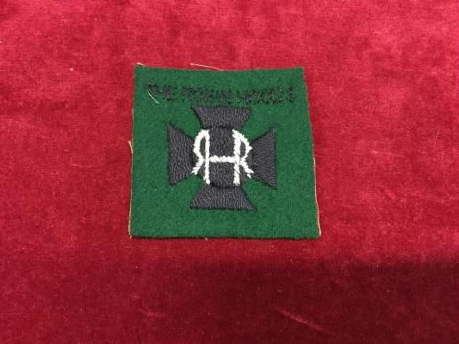Robin Hoods WW1 Cloth Shoulder Patch