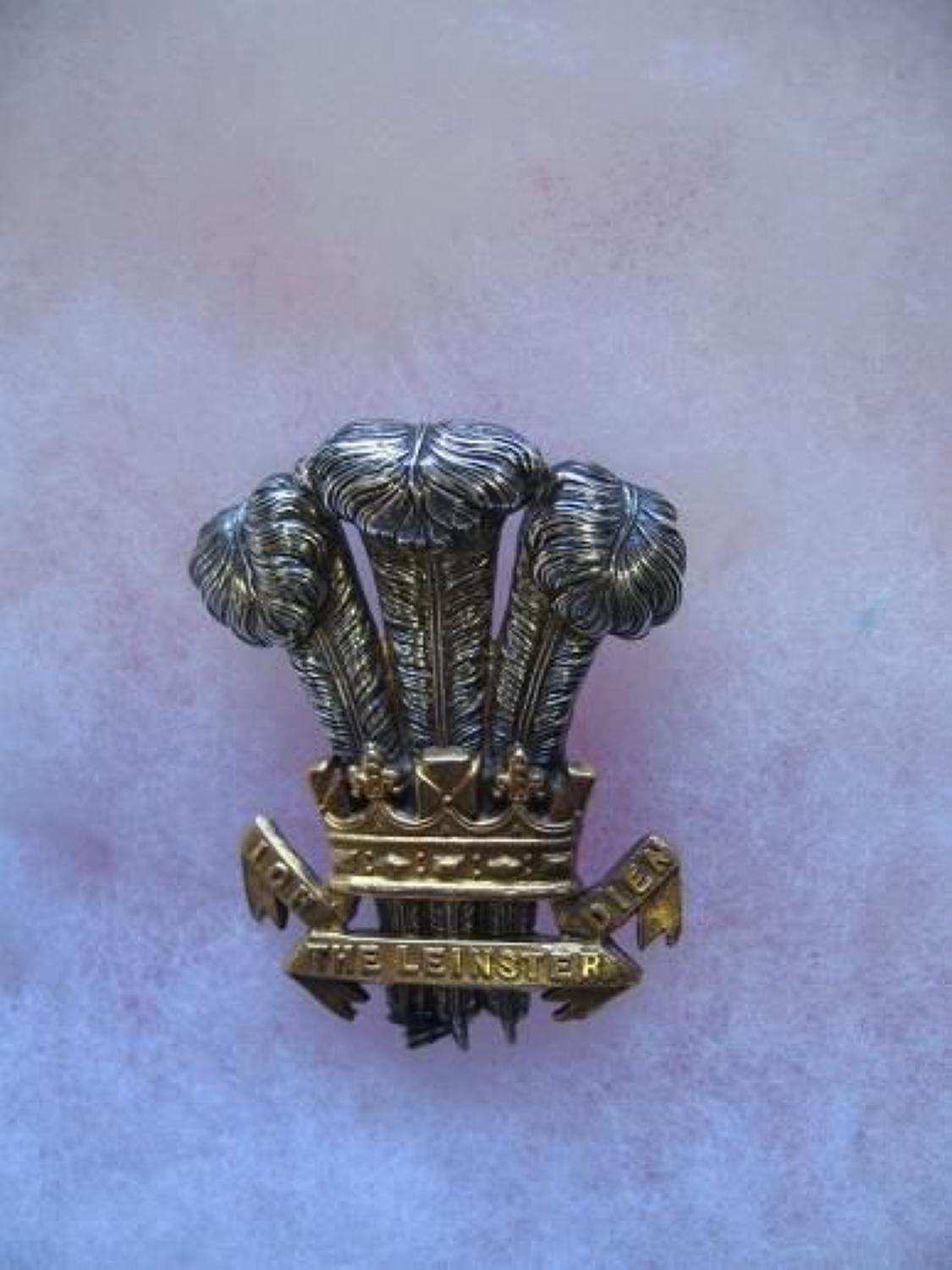 THE LEINSTER REGIMENT, OFFICERS PRE 1900, FORAGE CAP INSIGNIA.
