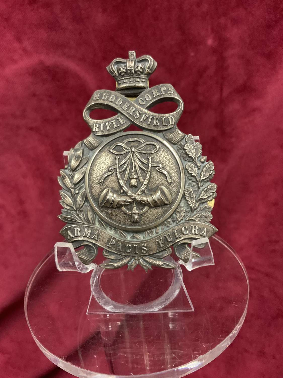 Huddersfield Rifle Corps, Shoulder Belt Plate, 1860's