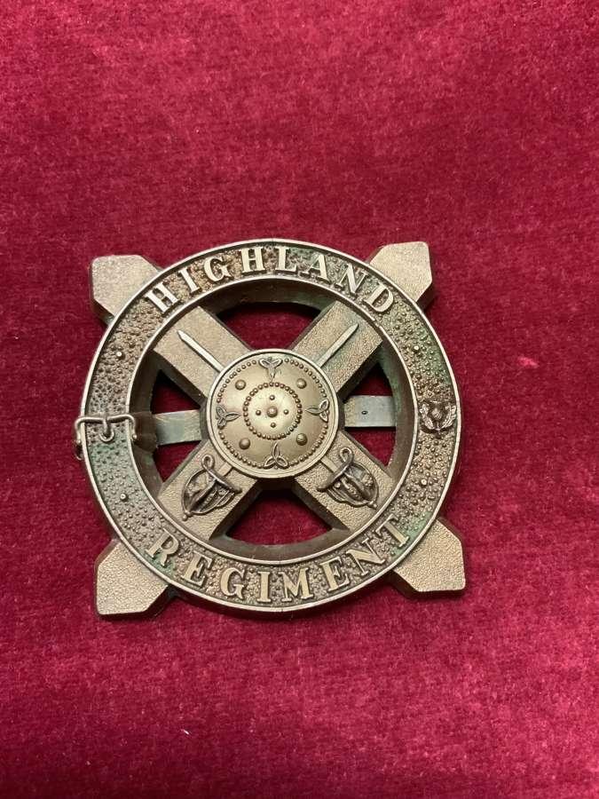 Highland Regiment, Plastic Bonnet Badge.