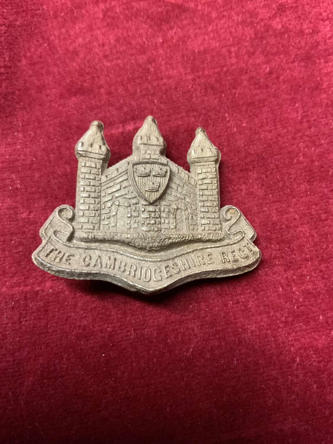 The Cambridgeshire Regiment, Plastic Cap Badge.