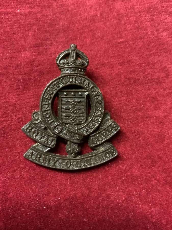Royal Army Ordnance Corps, Plastic Cap Badge